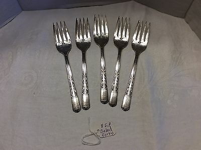 Vintage Silver Plate Mixed Lot Of Flatware N2