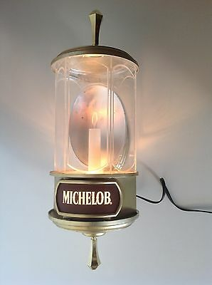 Michelob Beer Bar Light Lighted Wall Sconce Man Cave Pub Works P1