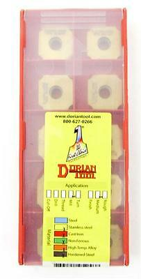 Dorian Tool SDGX Carbide Square Convex Milling Indexable Insert Pack Of 10