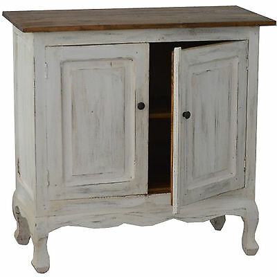 French White Chest Vintage Cupboard Cabinet Wood Antique Shelf Sideboard Retro