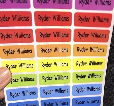 72 Colorful Personalized Labels Waterproof name labels for School, Daycare, Etc