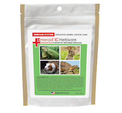 Emeraid Herbivore Critical Care Formula 400G For Sick Rabbit Tortoise Reptile