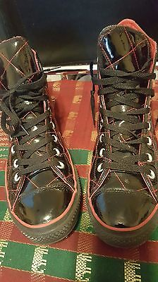 Converse Chuck Taylor Quilted Patent Leather Sneakers Mens Size 11M