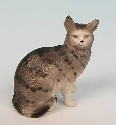Quality Antique Bisque Porcelain Cat Figurine German French Victorian Kitten