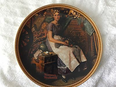 """""""Dreaming In The Attic""""  Limited Edition Plate by Norman Rockwell"""