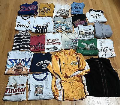 Lot Of 23 Vintage Sports Tee T Shirts Lakers Nike Jacket Harley Davidson