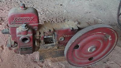 Hit & Miss Engine Dempster WATER PUMP with Pulley  Pully - Plunger Piston Mill
