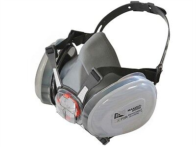 Scan SCAPPERESPP2 P2 DUST Twin Cartridge Filters With Half Face Mask Respirator
