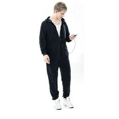 New Womens Mens Childrens Unisex Plain All In One Jumpsuit