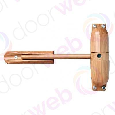 Surface Mounted DOOR CLOSER Wood Oak Effect Timber Spring Adjustable Closing