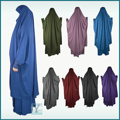 2 pieces Jilbab Set Khimar+Skirt Hijab Abaya Maxi Ready Headscarf Prayer Dress