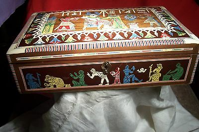 Vintage Middle Eastern Egyptian Revival Inlaid Box - L-B810