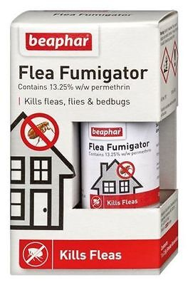 Beaphar Flea Fumigator Smoke Fumigation Flea Killer Bomb Kills Insects 3.5g
