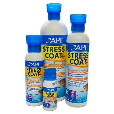Api Aquarium Stress Coat Tap Water Conditioner Fish Tank Aloe Vera Dechlorinator