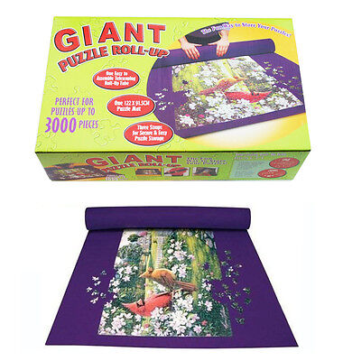 Giant Puzzle Roll-Up Mat Jigsaw Jumbo Easy Storage Up To 3000 Pieces Fun Game