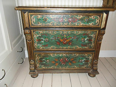 Antique Mid Victorian Painted Chest Of Drawers