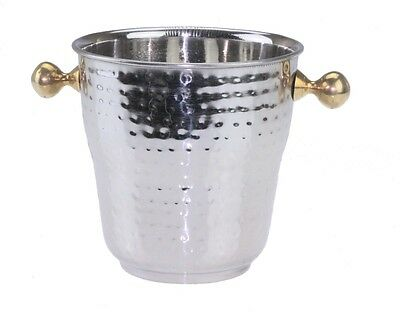 Stainless Steel Insulated Ice Bucket with Brass handle Double Walled