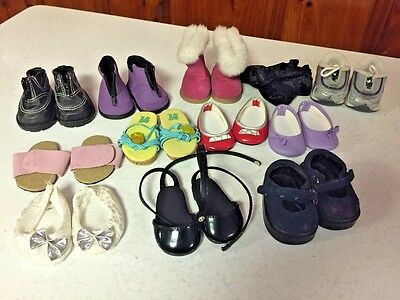 "American Girl Doll Shoes Lot for 18"" Doll"