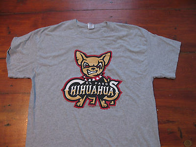 El Paso Chihuahuas grey t-shirt shirt MILB Minor league baseball Mens XL