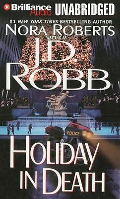 HOLIDAY IN DEATH unabridged audio book on CD by J.D. ROBB / NORA ROBERTS