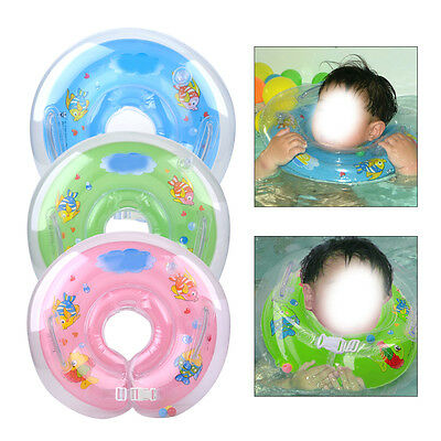 Baby Infant Newborn Bath Swimming Neck Float Ring Tube Inflatable Safety Summer
