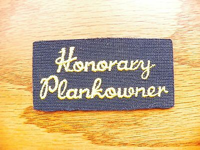 United States Navy Honarary Plankowner Patch for Navy Ballcap or Jacket