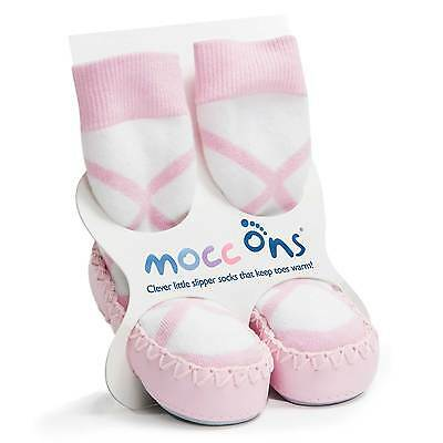 Sock Ons Baby / Child Mocc Ons Ballerina Pink, 18-24 Months