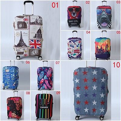 """Elastic Travel Luggage Suitcase Case Dustproof Cover Bag Protector For 27""""-30"""""""