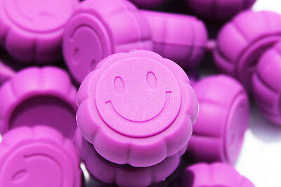 Silicone Containers (30) - Everyday Storage - SMILEY FACE - Purple