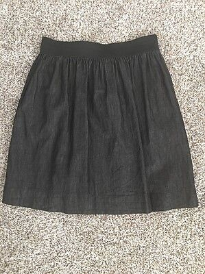 Women's Cable & Gauge Pleated Black Chambray Skirt Size L