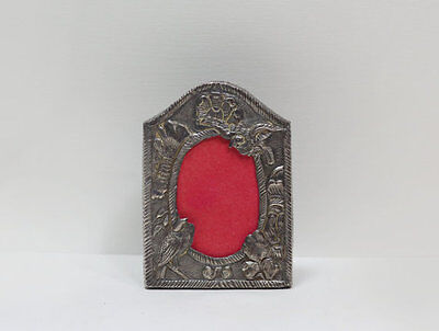 Small Ornate Solid Silver Detailed Scenic Antique Picture Frame 800