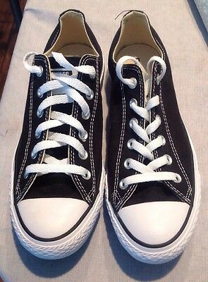 Converse All Star Chuck Taylor Low Top Canvas Black/White M9166 Mens 7 Women's 9