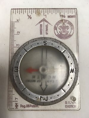 Vintage Boy Scouts Of America Silva System Field Compass Ruler