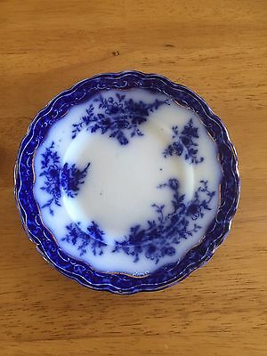 """Flow Blue Henry Alcock China - Touraine pattern - 3 bread/butter plates 6.25"""""""