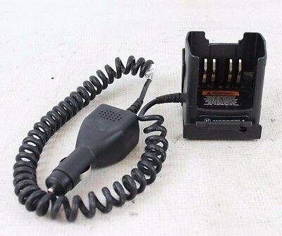 Motorola RLN4884B Portable Car Vehicle Battery Charger w/ Mount XTS MT HT Radio