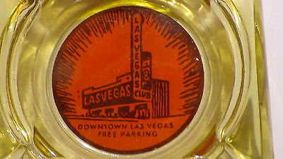 LAS VEGAS CLUB  CASINO ( ORANGE SUNBURST )  LAS VEGAS  NV glass ASHTRAY