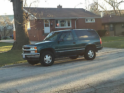 1997 Chevrolet Tahoe LT 1997 Chevy Tahoe 2 Door, 4WD, Emerald Green, Leather