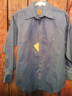 af17a1f2 Stubbs Western Wear Long Sleeve Shirt NWT Sky Blue No Buttons Size L