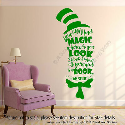 You can find Magic - Dr. Seuss Book Quote Creative Nursery Wall Art Stickers