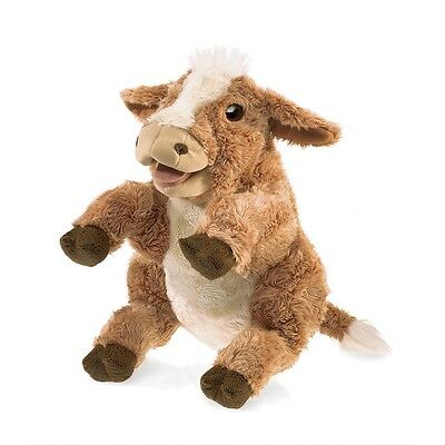 Brown Cow Puppet by Folkmanis MPN 3080, Boys & Girls, 3 & Up