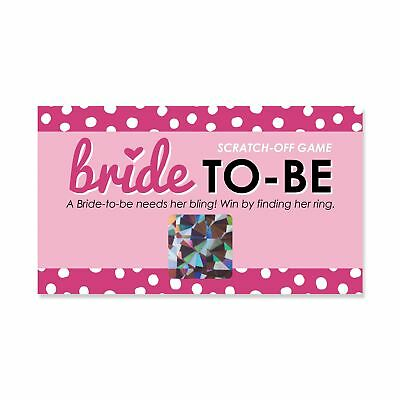 bride to be bridal shower bachelorette party game scratch off cards
