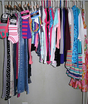 50 Pc Lot Girls Sz 7 8 7/8 Clothes For School Fall Beautiful Mix/match Outfits