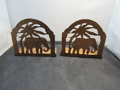 arts and crafts copper elephant  bookends