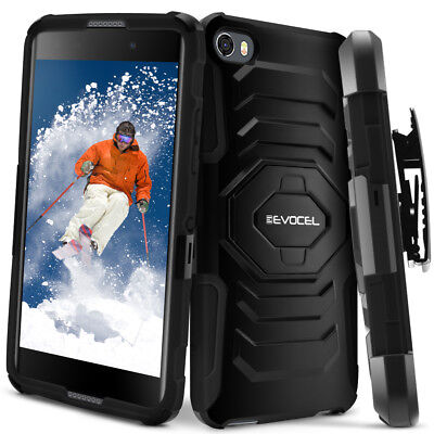 Alcatel OneTouch Idol 5 Case, Evocel Rugged Holster Case w/ Kickstand & Clip