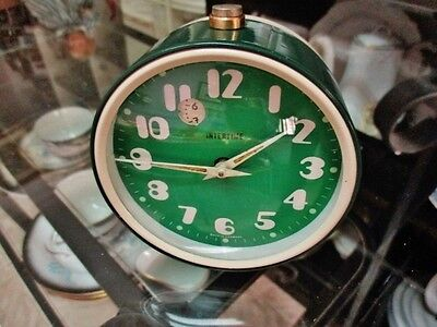 INTERTIME (by Jerger) rare vintage table alarm-clock (made in Germany)
