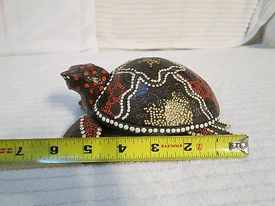 Painted Wooden Sea Turtle Holder for Earrings,Trinkets,Brooches,Necklaces or Ash