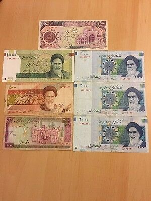 <MAKE OFFER>Lots Of IRANIAN BANKNOTES(7 NOTES), Used And Circulated ~BEST PRICE~