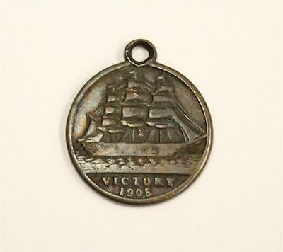 1905 Admiral Nelson medal made with copper from The Victory BFSS 16.8mm