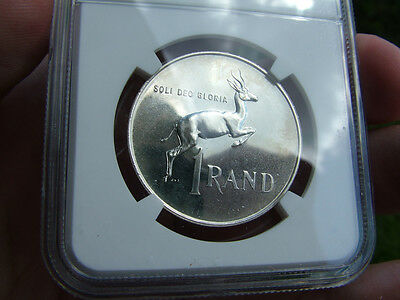 1965 SOUTH AFRICA PF 65 NGC CONSERVED Silver Rand R1 English Legend pr 65 1r