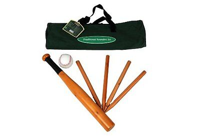 Traditional Garden Games Rounders Set In Canvas Carry Bag